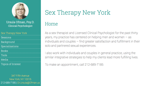 Sex Therapy New York